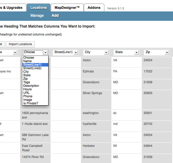 CSV Importer & Geocoder / Exporter & XML Exporter